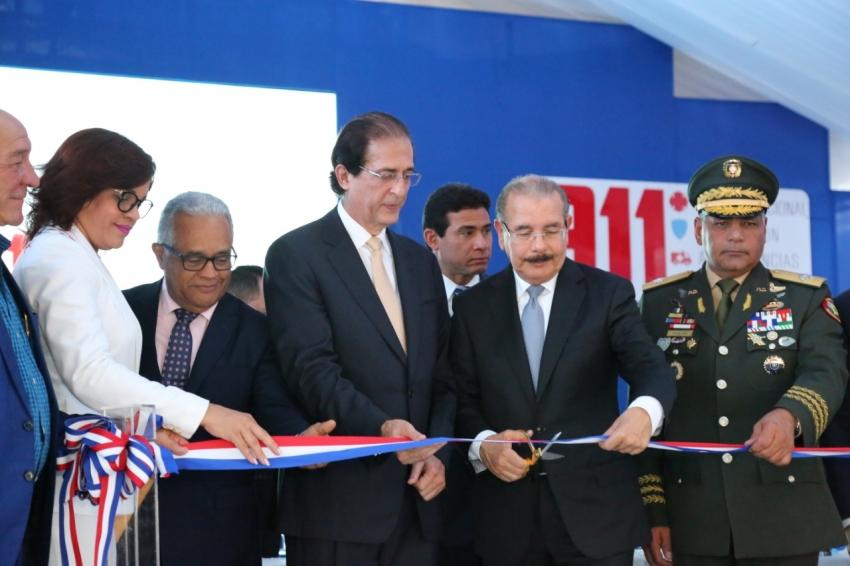 Presidente Medina deja en marcha el Sistema 9-1-1 en Azua con 660 nuevos colaboradores y 123 vehículos